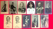 GERMAN EMPIRE & PRUSSIA ROYALTY - 11 ORIGINAL ca 1900's  POSTCARDS
