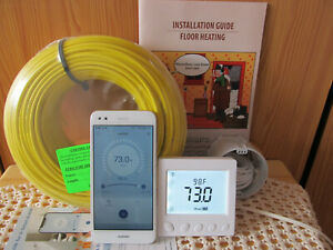 WiFi Under Floor,WarmTile Heating System for 25-35 sq.ft (2-3 sq m)400W-120/240V