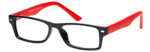 Aquarius+ AP514 Rectangular Plastic Glasses with Prescription Lenses 51-17-145