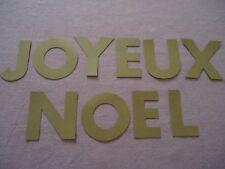 """LETTRES ALPHABET - """" JOYEUX NOEL """" - dies cuts alphabet - hauteur 7 cm"""