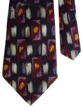 "Henry Grethel Men's Silk Neck Tie Abstract Paint 3 7/8"" x 58"""
