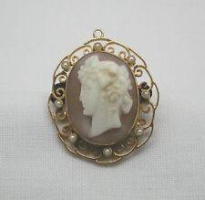 Pearl Rose Gold Brooch/Pin Victorian Fine Jewellery