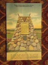 Vintage Postcard Cairn At International Peace Garden, North Dakota-Manitoba