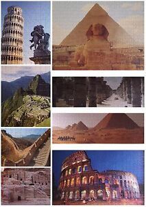 GRAFIX Deluxe Family 8 Complete Jigsaws 2700 Pcs 8 Wonders Of The Ancient World