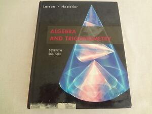 Algebra And Trigonometry Hardcover Larson Hostetler Seventh Edition