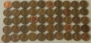 1955d  #2 Roll Vintage Wheat Pennies, pennies fine or better,
