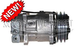 A/C Compressor w/Clutch for Sanden 4041, 4426, 4696 Kenworth & Peterbilt Trucks