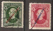Slowakei 1939 24 - 25 gestempelt
