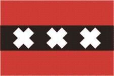 Aufkleber Amsterdam Flagge Fahne 30 x 20 cm Autoaufkleber Sticker