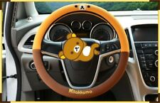 New Fashion Car Steering Wheel Cover Rilakkuma Anti Slip Universal Handlebar