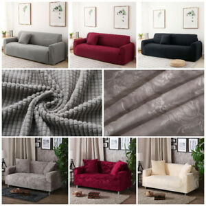 1-4 Seater Stretch Slip Covers Sofa Couch Cover Furniture Protector Universal BN