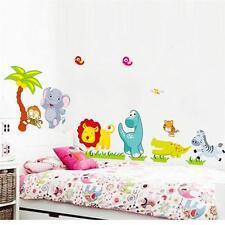 Felice Animali giungla Da parete, decalcomania Rimovibile adesivi bambini