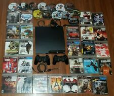 Sony PS3 PlayStation 3 CONSOLE BUNDLE System w 2 Wireless Controllers & 39 GAMES