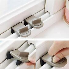 Security Sliding Stopper Door Window Safety Sash Lock Restrictor Tools DD