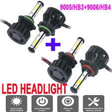 Combo 9005  + 9006 CREE LED Headlight Kit Hi Low Beam 6000K 4950W 585000LM