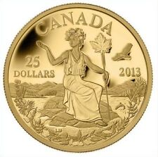 Canada 2013 - Canada: An Allegory- $25 Pure gold 99.99%