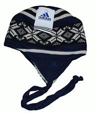 Adidas Wooly Hat Warm Beanie hiver unisexe taille unique bleu marine et blanc + tags
