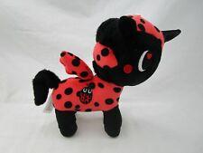 "Tokidoki Unicorno Plush Aurora 7"" Neon Ladybug Black Red Stuffed Animal Toy"