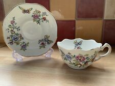 More details for rare aynsley scalloped tea cup and saucer fine bone china
