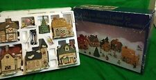 Dickens Ceramic 16 Piece Lighted Christmas Display Set Collectible Gift