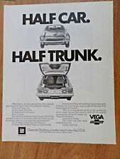 1972 Chevrolet Vega Ad Half Car Half Trunk