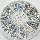 3D Mixed Lot Glitter Rhinestones Nail Art Tips Decoration Cute DIY Accessories
