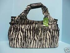 Kate Spade Thea SMALL Zebra Stripe Camal Chocolate Purse Hand Shoulder Bag NWT