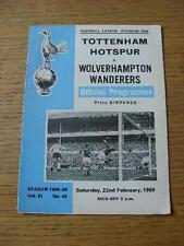 22/02/1969 Tottenham Hotspur v Wolverhampton Wanderers. NO difetti evidenti, UNL