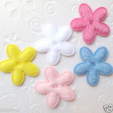 "US SELLER - 75 x 1"" Furry Felt Spring Flower Padded Appliques for Bow/Card ST218"
