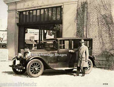 Packard Car Old Vintage Photo 1923 in front of packard dealership