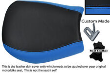 LIGHT BLUE & BLACK CUSTOM FITS TRIUMPH SPEED TRIPLE 955 i 97-01 FRONT SEAT COVER