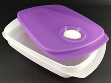 Tupperware Crystalwave Microwave Lunchbox Container Purple #5834 Tw33