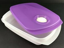 Tupperware CrystalWave Microwave Lunchbox Container Purple #5834 New