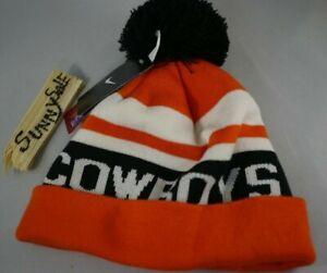 NWT NIKE Oklahoma State Cowboys Sport Knit Pom Beanie Orange Black swoosh 2011