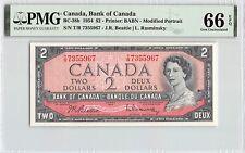New listing Canada 1954 P-38b Pmg Gem Unc 66 Epq 2 Dollars (Beattie-Rasinsky)