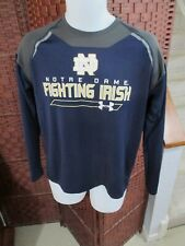 Men's Under Armour Notre Dame Long Sleeve Shirt Loose Size Small Fighting Irish