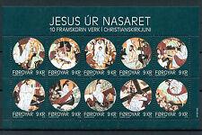 Faroe Islands Faroes 2016 MNH Jesus of Nazareth 10v MS Christmas Nativity Stamps