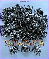 12 Horned Demon Skull Beads - Lanyard - Paracord - Leather - Jewelry - US Seller