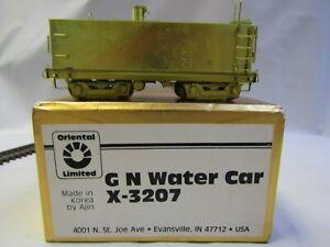ORIENTAL LIMITED .GN WATER CAR X-3207 HO BRASS ORIGINAL BOX