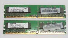kit memoria ram elpida ddr2 2x1gb 1rx8 pc2-5300u-555-12 667 240 pin  test.ok