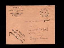 France Vichy WWII Mediterranean Itinerants Bureau  Early US Censor 1941 Cover 6n