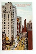 CANADA carte postale ancienne TORONTO 25 view of bay street