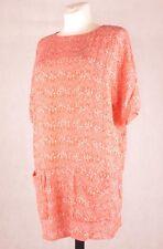 DAY BIRGER ET MIKKELSEN Womens Red Loose Fit Short Sleeve Dress Tunic 36 UK 10