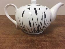 Jameson + Tailor Black Cream Teapot BNIB Black Flower Cream Porcelain Teapot