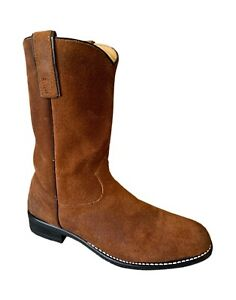 Wrangler Roper Boots Vintage Wrangler Brown Leather Cowgirl Boots - Women's 6.5M