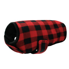 Winter Dog Clothes Pet Dog Coats Warm Pet Jacket Apparel Plaid Grid Red and Blue