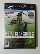 Jeu Sony Playstation PS2 Metal gear solid 3 Subsistence
