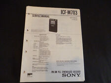 Original Service Manual Sony ICF-M703