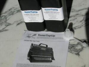 Two Bottle Toner Refill Lexmark T650 T652 T654 X650 X656 658 OT650H11E OT654X11E