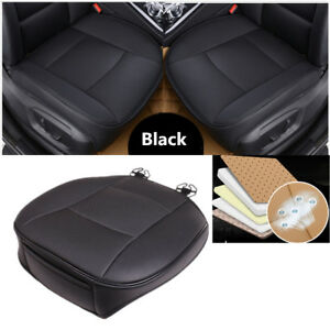 Luxury Limo Car Front Seat Cover Black PU Leather Seat Cushion Fine Stitching 1x